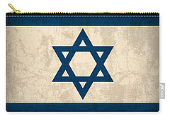 Israel Flag Vintage Distressed Finish Carry-all Pouch