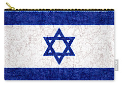 Israel Star Of David Flag Batik Carry-all Pouch