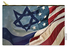 Israeli American Flags Carry-all Pouch
