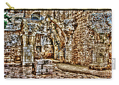 Carry-all Pouch featuring the photograph Israels Ruins by Doc Braham