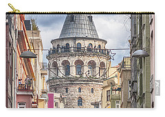 Istanbul Galata Tower Carry-all Pouch by Antony McAulay
