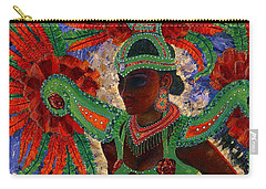 It Looks Like Mardi Gras Time Carry-all Pouch by Margaret Bobb