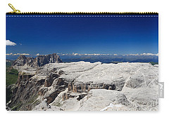 Carry-all Pouch featuring the photograph Italian Dolomites - Sella Group by Antonio Scarpi