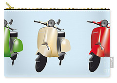 Italian Flag Vespa Carry-all Pouch
