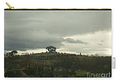 Carry-all Pouch featuring the photograph Italian Hillside by Robin Maria Pedrero