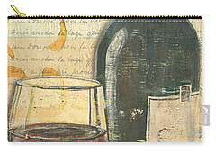 Italian Wine And Grapes Carry-all Pouch by Debbie DeWitt