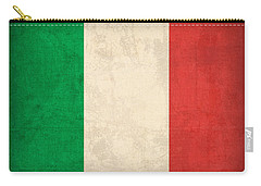 Italy Flag Vintage Distressed Finish Carry-all Pouch