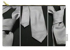 Carry-all Pouch featuring the photograph It's A Tie - Triptych by Trish Mistric