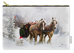 Draft Horse Paintings Carry-All Pouches