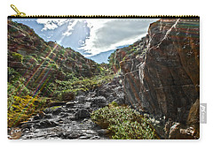 Carry-all Pouch featuring the photograph Its Raining Rainbows by Miroslava Jurcik