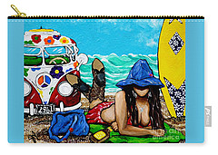 J. C. Beaching It In 1961 Carry-all Pouch by Jackie Carpenter