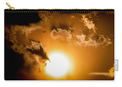 Carry-all Pouch featuring the photograph Jabiru Sunset Cloud by Paul Job