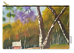 Carry-all Pouch featuring the painting Jacaranda Tree by Pamela  Meredith