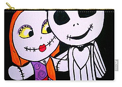 Jack And Sally Carry-all Pouch by Marisela Mungia