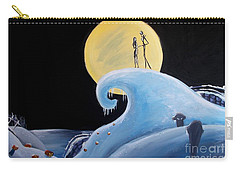 Jack And Sally Snowy Hill Carry-all Pouch by Marisela Mungia
