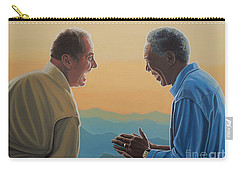 Jack Nicholson And Morgan Freeman Carry-all Pouch by Paul Meijering