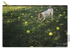 Jack Russell Terrier Tennis Balls Carry-all Pouch