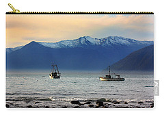 Carry-all Pouch featuring the photograph Jackson Bay South Westland New Zealand by Amanda Stadther