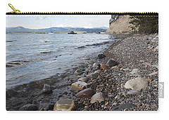Carry-all Pouch featuring the photograph Jackson Lake With Boats by Belinda Greb