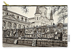 Jackson Square Winter Sepia Carry-all Pouch