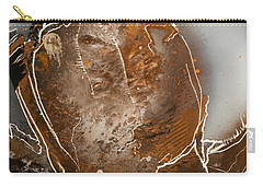 Carry-all Pouch featuring the painting Jagged by Jason Girard