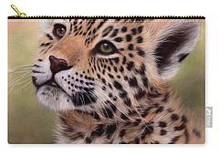 Jaguar Cub Painting Carry-all Pouch by Rachel Stribbling