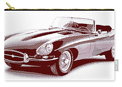 Jaguar E-type - Cross Hatching Carry-all Pouch