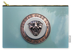 Carry-all Pouch featuring the photograph Jaguar Hood Emblem by Cheryl Hoyle