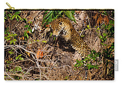Jaguar Vs Caiman 2 Carry-all Pouch by David Beebe