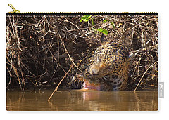 Jaguar Vs Caiman Carry-all Pouch by David Beebe