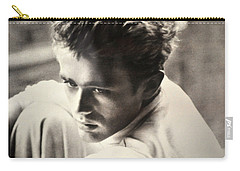 James Dean Black And White Carry-all Pouch by Jay Milo