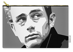 James Dean In Black And White Carry-all Pouch