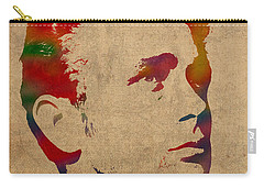 James Dean Watercolor Portrait On Worn Distressed Canvas Carry-all Pouch