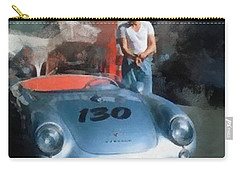 James Dean With His Spyder Carry-all Pouch