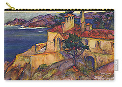 James House Carmel Highlands California By Rowena Meeks Abdy 1887-1945  Carry-all Pouch by California Views Mr Pat Hathaway Archives