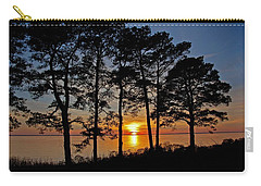 James River Sunset Carry-all Pouch by Suzanne Stout