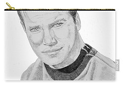 Carry-all Pouch featuring the drawing James Tiberius Kirk by Thomas J Herring