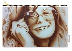 Janis Joplin - ' Janis ' Carry-all Pouch by Christian Chapman Art