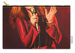 Janis Joplin Painting Carry-all Pouch by Paul Meijering