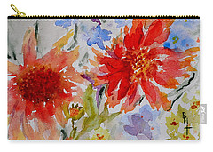 Carry-all Pouch featuring the painting Jann's Gaillardia by Beverley Harper Tinsley