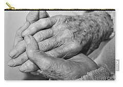Carry-all Pouch featuring the photograph Jan's Hands by Roselynne Broussard