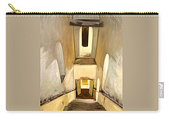 Carry-all Pouch featuring the painting Jantar Mantar Staircase by Mukta Gupta