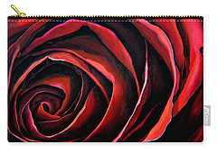 January Rose Carry-all Pouch by Thu Nguyen
