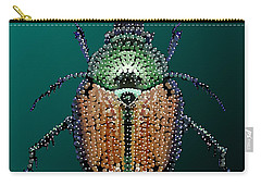 Japanese Beetle Bedazzled II Carry-all Pouch