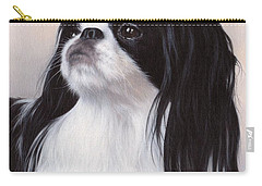 Japanese Chin Painting Carry-all Pouch by Rachel Stribbling