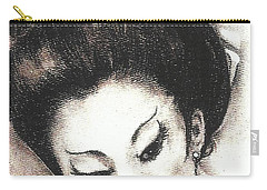 Japanese Girl. Carry-all Pouch by Francine Heykoop