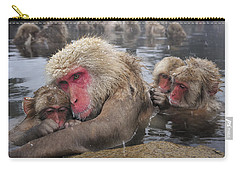 Japanese Macaque Grooming Mother Carry-all Pouch