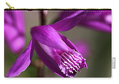 Carry-all Pouch featuring the photograph Japanese Orchid by Joy Watson