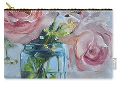 Jar Of Pink Carry-all Pouch by Donna Tuten