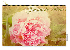 Carry-all Pouch featuring the photograph Jardin De Fleurs by Trina  Ansel